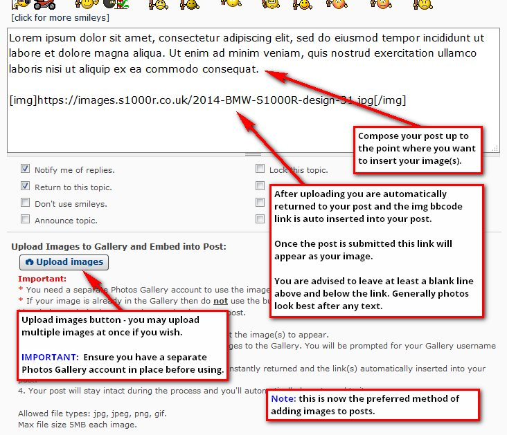 Embed image to your Forum Post
